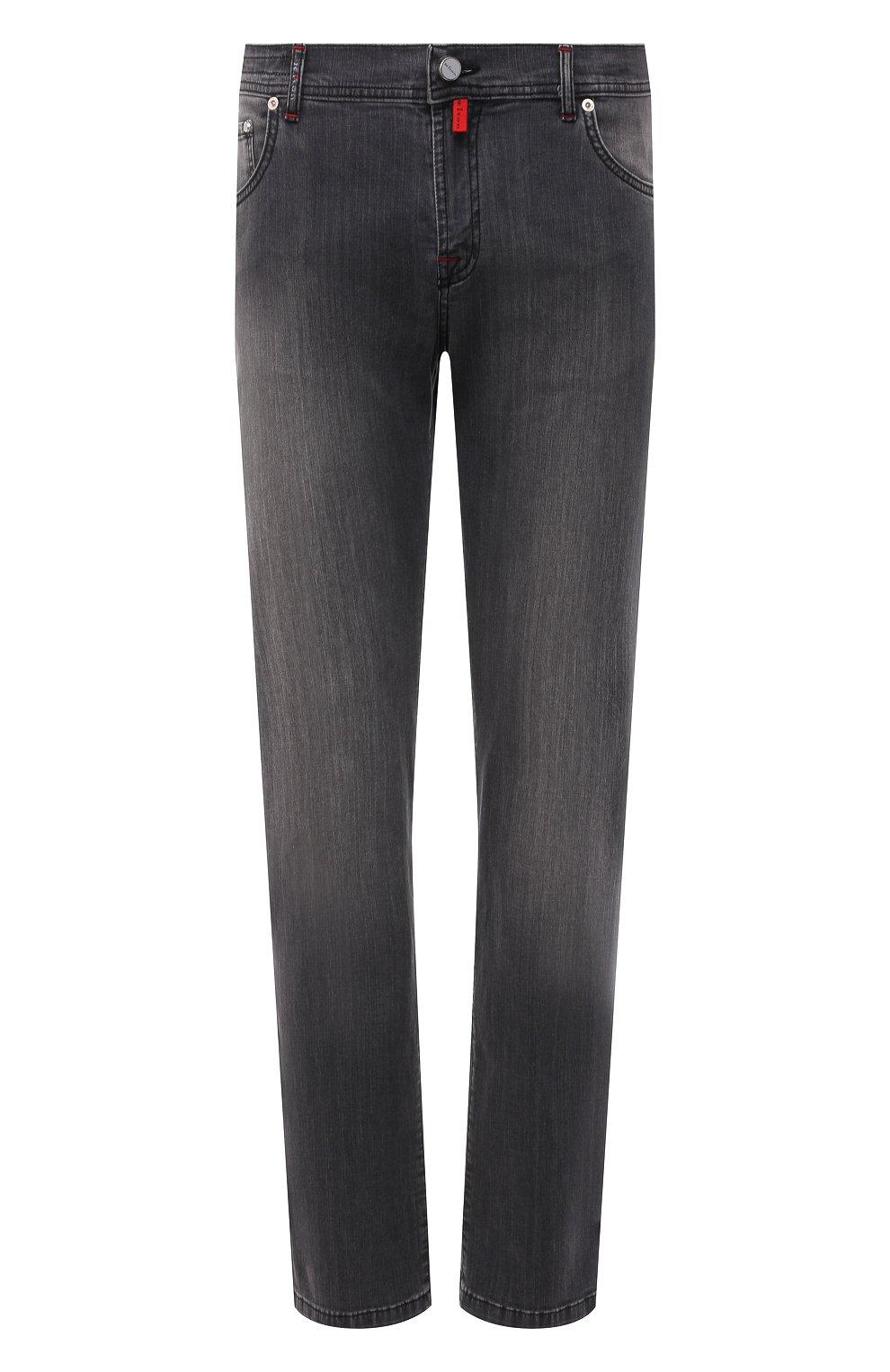 Мужские джинсы KITON серого цвета, арт. UPNJS/J06T94 | Фото 1 (Силуэт М (брюки): Прямые; Длина (брюки, джинсы): Стандартные; Материал внешний: Хлопок, Деним; Стили: Кэжуэл)