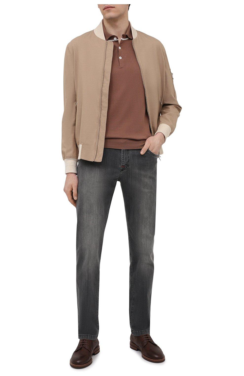 Мужские джинсы KITON серого цвета, арт. UPNJS/J06T94 | Фото 2 (Силуэт М (брюки): Прямые; Длина (брюки, джинсы): Стандартные; Материал внешний: Хлопок, Деним; Стили: Кэжуэл)