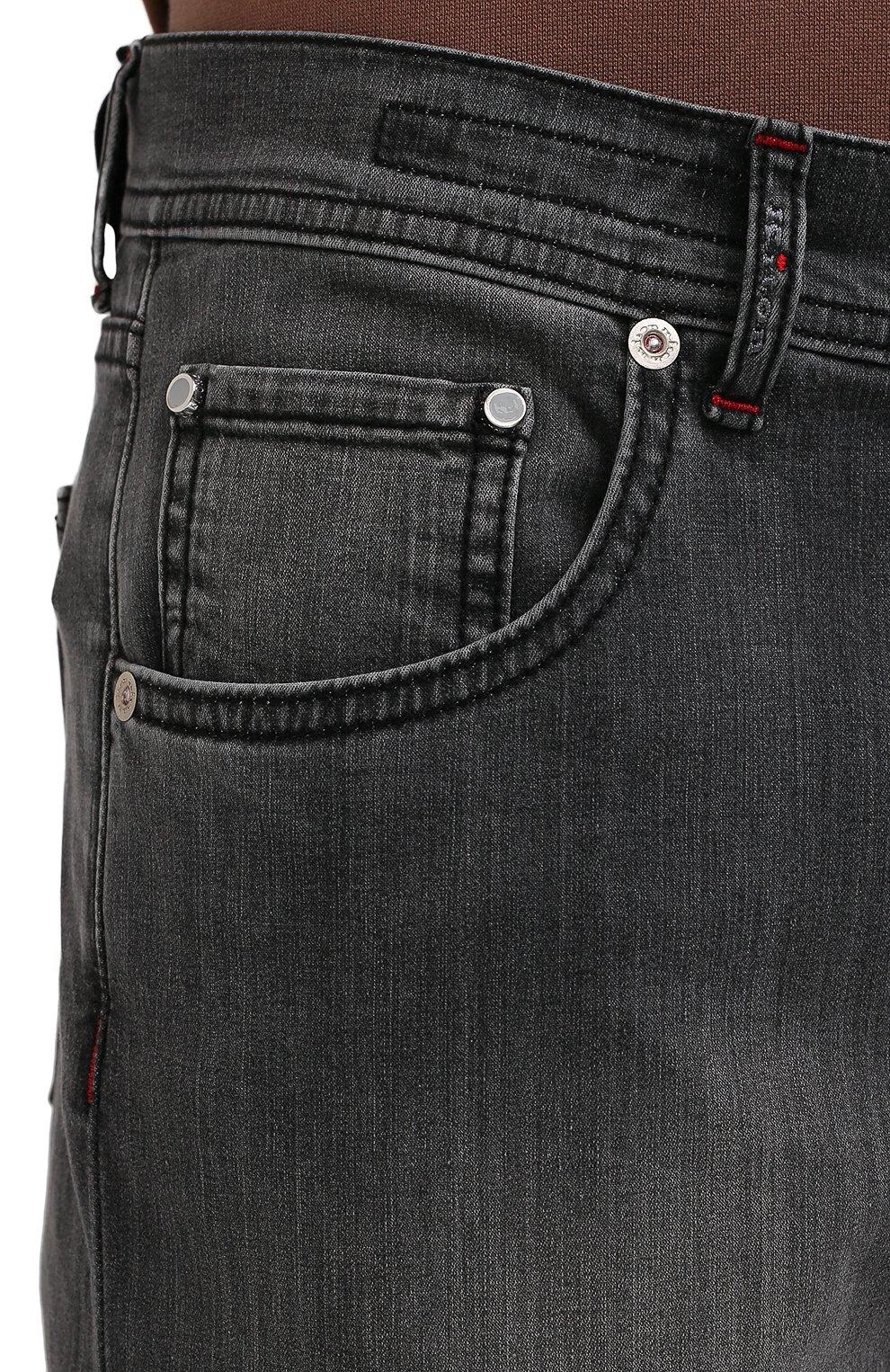 Мужские джинсы KITON серого цвета, арт. UPNJS/J06T94 | Фото 5 (Силуэт М (брюки): Прямые; Длина (брюки, джинсы): Стандартные; Материал внешний: Хлопок, Деним; Стили: Кэжуэл)