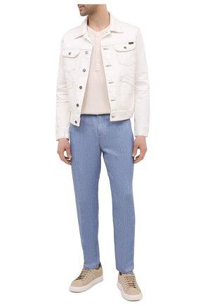 Мужская джинсовая куртка TOM FORD белого цвета, арт. BWJ32/TFD116 | Фото 2 (Стили: Кэжуэл; Рукава: Длинные; Кросс-КТ: Куртка; Длина (верхняя одежда): Короткие; Материал внешний: Хлопок, Деним)