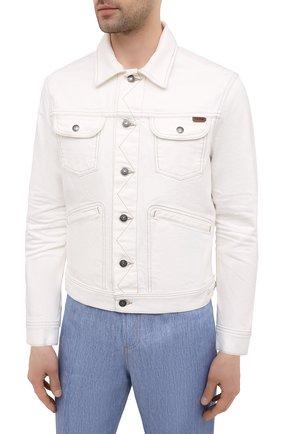 Мужская джинсовая куртка TOM FORD белого цвета, арт. BWJ32/TFD116 | Фото 3