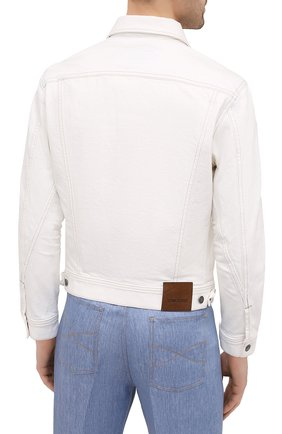 Мужская джинсовая куртка TOM FORD белого цвета, арт. BWJ32/TFD116 | Фото 4