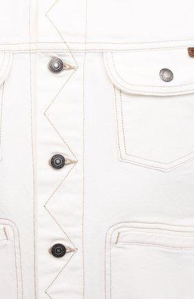 Мужская джинсовая куртка TOM FORD белого цвета, арт. BWJ32/TFD116 | Фото 5