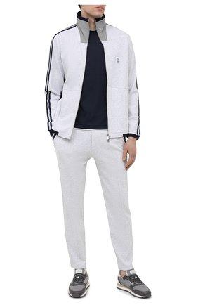 Мужской хлопковая толстовка BRUNELLO CUCINELLI серого цвета, арт. M0T359156G | Фото 2 (Длина (для топов): Стандартные; Стили: Спорт-шик; Рукава: Длинные; Мужское Кросс-КТ: Толстовка-одежда; Материал внешний: Хлопок)