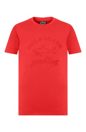 Мужская хлопковая футболка PAUL&SHARK красного цвета, арт. C0P1007/C00 | Фото 1