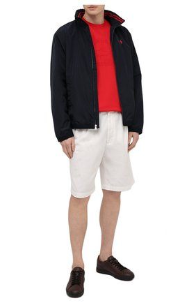Мужская хлопковая футболка PAUL&SHARK красного цвета, арт. C0P1007/C00 | Фото 2