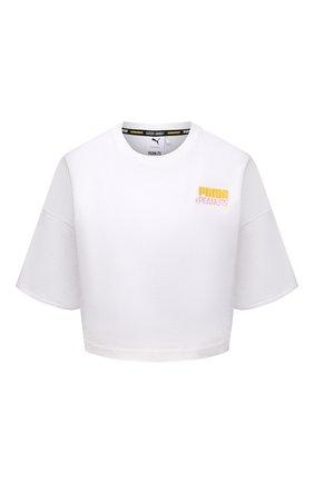 Женская хлопковая футболка puma x peanuts ralph sampson PUMA белого цвета, арт. 53115802 | Фото 1