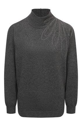 Женский кашемировый пуловер BRUNELLO CUCINELLI темно-серого цвета, арт. M12176204 | Фото 1