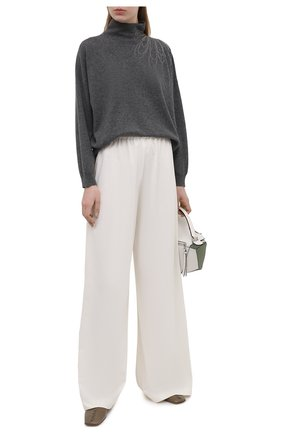 Женский кашемировый пуловер BRUNELLO CUCINELLI темно-серого цвета, арт. M12176204 | Фото 2