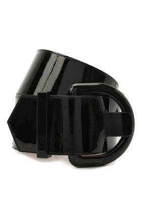 Женский кожаный ремень GIORGIO ARMANI черного цвета, арт. Y1I084/YTQ4V   Фото 1 (Материал: Кожа)
