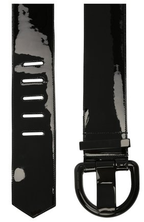 Женский кожаный ремень GIORGIO ARMANI черного цвета, арт. Y1I084/YTQ4V   Фото 2 (Материал: Кожа)