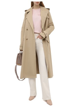 Женская шелковая футболка ALEXANDER MCQUEEN светло-розового цвета, арт. 654002/QLAAA | Фото 2 (Длина (для топов): Стандартные; Женское Кросс-КТ: Футболка-одежда; Материал подклада: Хлопок; Рукава: Короткие; Принт: С принтом; Стили: Романтичный; Материал внешний: Шелк)