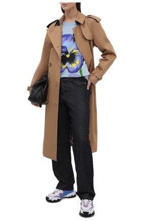 Женский хлопковый тренч BURBERRY бежевого цвета, арт. 8041375 | Фото 2