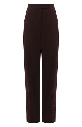Женские шерстяные брюки RALPH LAUREN коричневого цвета, арт. 290840130 | Фото 1
