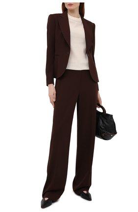 Женские шерстяные брюки RALPH LAUREN коричневого цвета, арт. 290840130 | Фото 2