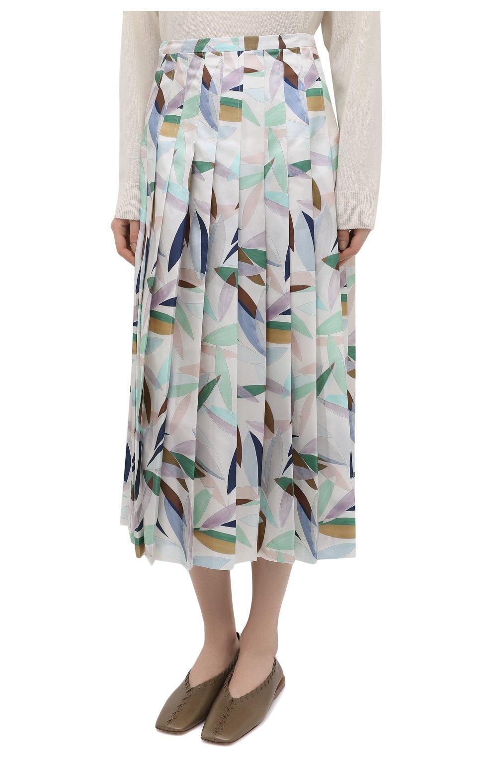 Женская шелковая юбка GABRIELA HEARST разноцветного цвета, арт. 321320 P033 | Фото 3