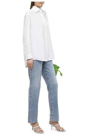 Женские кожаные мюли mini obi PIERRE HARDY белого цвета, арт. VD01/LAMB   Фото 2