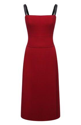 Женское платье DOLCE & GABBANA бордового цвета, арт. F6P0IT/FURDV | Фото 1