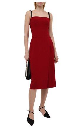 Женское платье DOLCE & GABBANA бордового цвета, арт. F6P0IT/FURDV | Фото 2