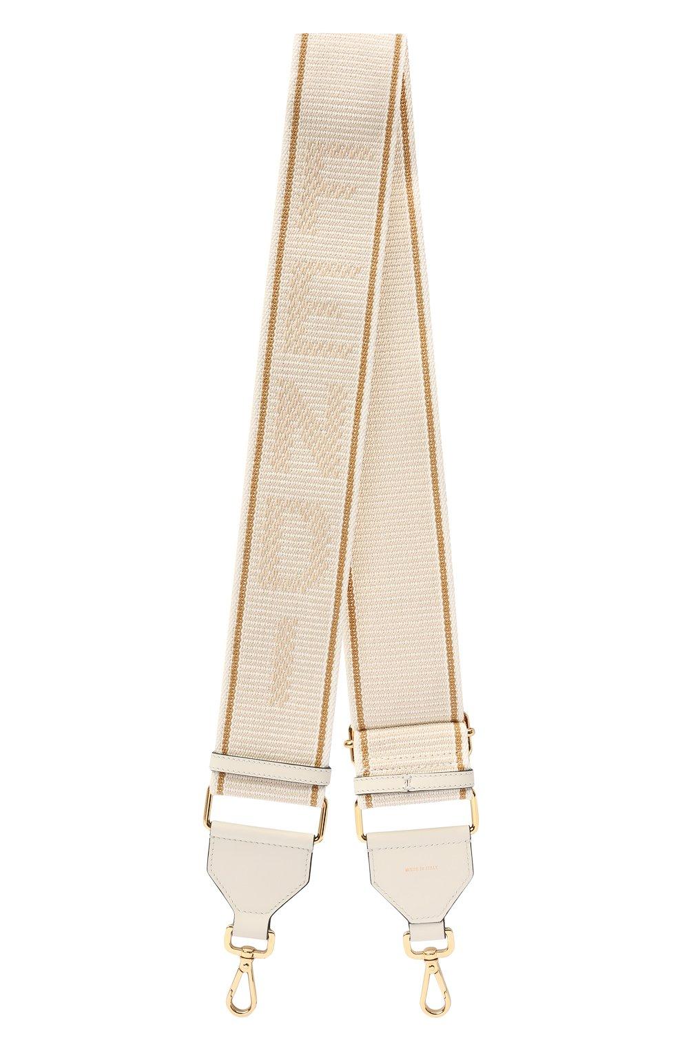 Женские текстильный ремень для сумки strap you FENDI светло-бежевого цвета, арт. 8AV134 AFI0 | Фото 1