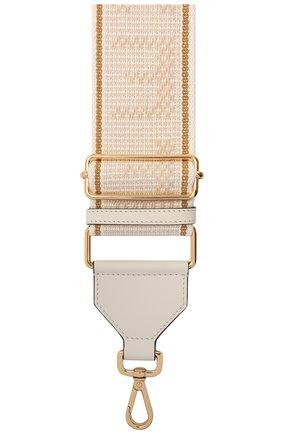 Женские текстильный ремень для сумки strap you FENDI светло-бежевого цвета, арт. 8AV134 AFI0 | Фото 2