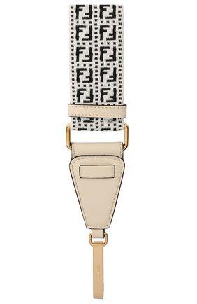 Женские текстильный ремень для сумки strap you FENDI черно-белого цвета, арт. 8AV199 AFIN   Фото 2