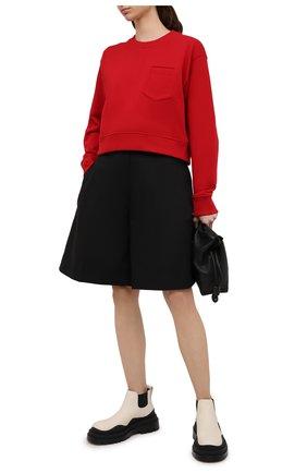 Женский хлопковый свитшот FENDI красного цвета, арт. FS7427 AFLB | Фото 2
