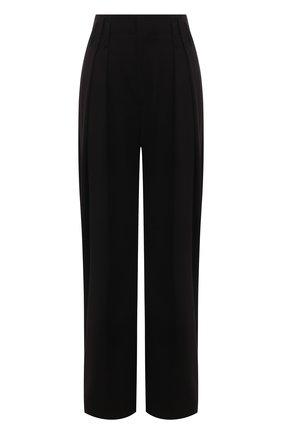 Женские брюки CHLOÉ черного цвета, арт. CHC21UPA01137   Фото 1 (Силуэт Ж (брюки и джинсы): Широкие; Длина (брюки, джинсы): Стандартные; Женское Кросс-КТ: Брюки-одежда; Стили: Кэжуэл; Материал внешний: Синтетический материал)