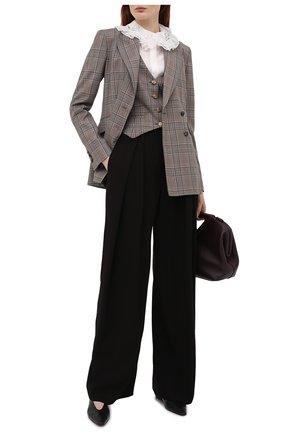 Женские брюки CHLOÉ черного цвета, арт. CHC21UPA01137   Фото 2 (Силуэт Ж (брюки и джинсы): Широкие; Длина (брюки, джинсы): Стандартные; Женское Кросс-КТ: Брюки-одежда; Стили: Кэжуэл; Материал внешний: Синтетический материал)