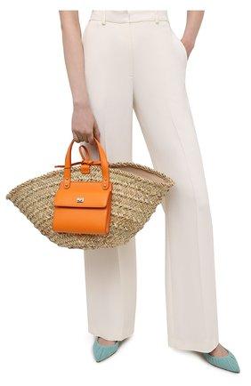 Женский сумка-шопер kendra DOLCE & GABBANA оранжевого цвета, арт. BB5888/A0698 | Фото 2 (Материал: Растительное волокно; Сумки-технические: Сумки-шопперы; Размер: large)
