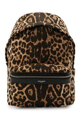 Женский рюкзак city mini SAINT LAURENT леопардового цвета, арт. 650617/2QL3E | Фото 1