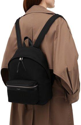 Женский рюкзак city mini SAINT LAURENT черного цвета, арт. 650617/GR0VE | Фото 2