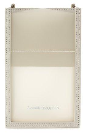 Кожаный чехол для iphone ALEXANDER MCQUEEN белого цвета, арт. 658445/14AQ3 | Фото 1