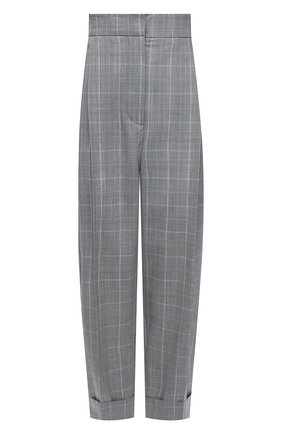 Женские шерстяные брюки ALEXANDER MCQUEEN серого цвета, арт. 657336/QJACD | Фото 1