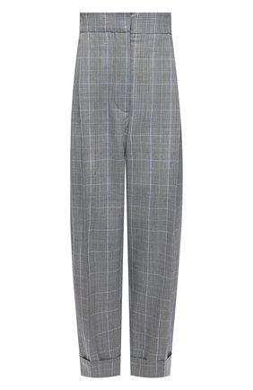 Женские шерстяные брюки ALEXANDER MCQUEEN серого цвета, арт. 657336/QJACD | Фото 1 (Стили: Кэжуэл; Материал внешний: Шерсть; Женское Кросс-КТ: Брюки-одежда; Длина (брюки, джинсы): Укороченные; Силуэт Ж (брюки и джинсы): Прямые)