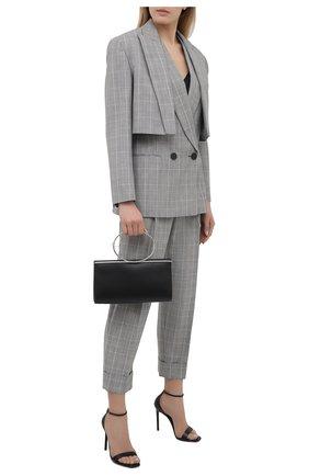 Женские шерстяные брюки ALEXANDER MCQUEEN серого цвета, арт. 657336/QJACD | Фото 2 (Стили: Кэжуэл; Материал внешний: Шерсть; Женское Кросс-КТ: Брюки-одежда; Длина (брюки, джинсы): Укороченные; Силуэт Ж (брюки и джинсы): Прямые)
