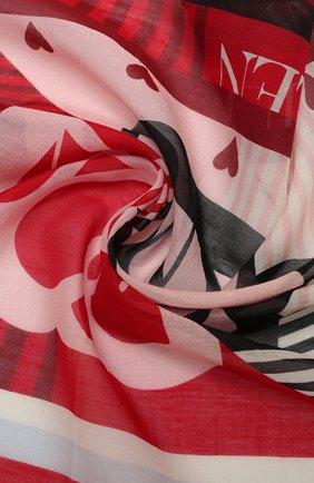 Женский хлопковый платок ALEXANDER MCQUEEN красного цвета, арт. 657180/3624Q | Фото 2