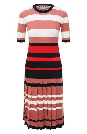 Женское шерстяное платье MARNI розового цвета, арт. ABMD0087EQ/FW531 | Фото 1