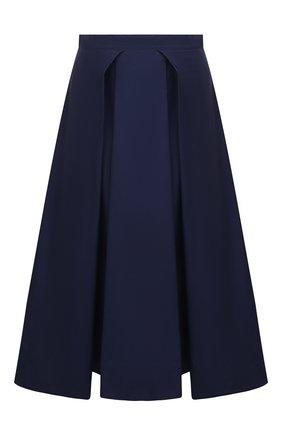 Женская хлопковая юбка MARNI темно-синего цвета, арт. G0MA0352A0/UTCZ56   Фото 1