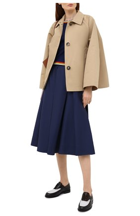 Женская хлопковая юбка MARNI темно-синего цвета, арт. G0MA0352A0/UTCZ56 | Фото 2