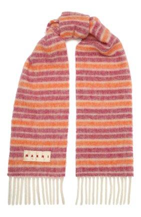 Женский шарф MARNI розового цвета, арт. SCMC0054Y0/USCR15 | Фото 1