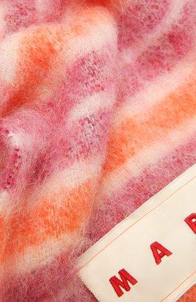 Женский шарф MARNI розового цвета, арт. SCMC0054Y0/USCR15 | Фото 2