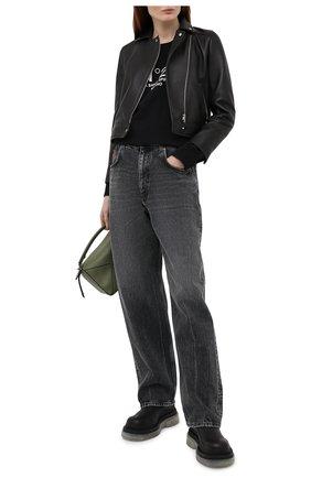Женский хлопковый свитшот N21 черного цвета, арт. 21E N2M0/E031/6313   Фото 2