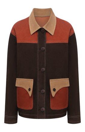 Женская замшевая куртка DROME коричневого цвета, арт. DPD3087VP/D1020P   Фото 1