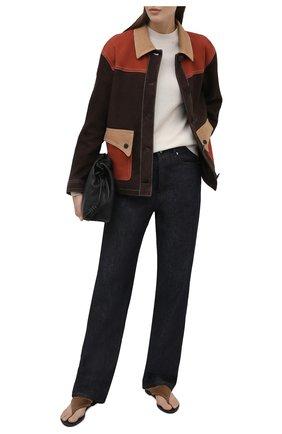 Женская замшевая куртка DROME коричневого цвета, арт. DPD3087VP/D1020P   Фото 2