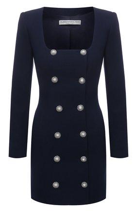 Женское шерстяное платье ALESSANDRA RICH темно-синего цвета, арт. FAB2358-F3190 | Фото 1