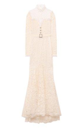 Женское хлопковое платье ALESSANDRA RICH белого цвета, арт. FAB2354-P3009 | Фото 1