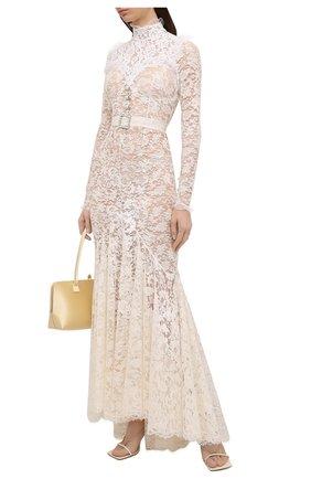 Женское хлопковое платье ALESSANDRA RICH белого цвета, арт. FAB2354-P3009 | Фото 2