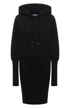 Женское хлопковое платье OPENING CEREMONY черного цвета, арт. YWDB007S21FLE002 | Фото 1