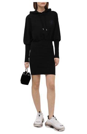 Женское хлопковое платье OPENING CEREMONY черного цвета, арт. YWDB007S21FLE002 | Фото 2